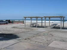 New shaded, paved accessible picnic areas are right along the ocean at Silver Strand State Beach.