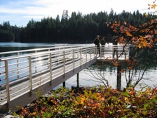 A fishing pier at Lake Britton is accessible.